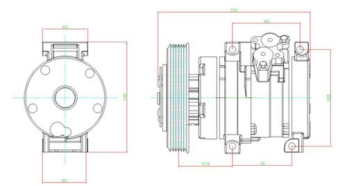 活塞式空压机装配图